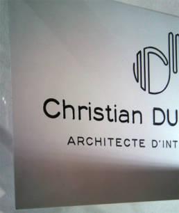 Plaque pour Architecte - Plaque professionnelle Plaque pro architecte urbaniste patrimoine