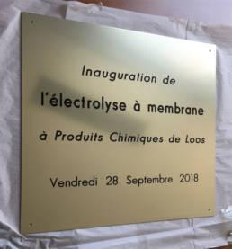 Plaque d'inauguration pour une entreprise - plaque d'inauguration pour les collectivité
