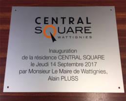 Plaque d'Inauguration - Plaque commémorative - Plaque de Mairie - Plaque de syndic