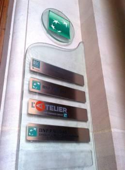 Plaquettes de sonnette originale en aluminium pour les noms de sociétés