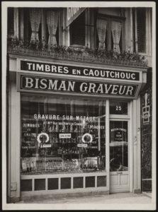 Bisman graveur place du théâtre à Lille - Photo Jean Pasquero lille XIV siècle ancienne boutique commerçant de lille centre entreprise centenaire