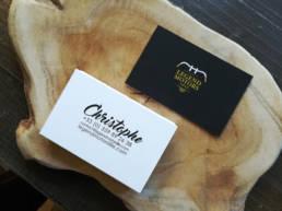 papeterie professionnelle avec cartes de visite pour boutique de luxe