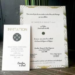 impression de Faire part moderne et créatif avec cartons d'invitation