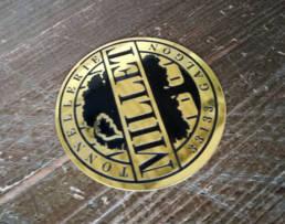 Plaque de marque en laiton gravure chimique pour vignerons - plaque de tonnelier