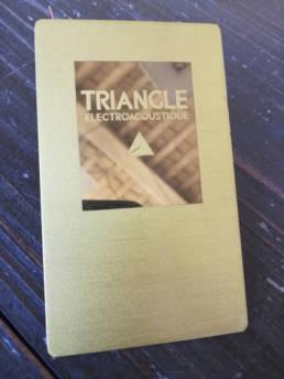 Plaque de Marque en laiton Triangle