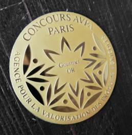Médaille gravée en laiton Gourmet Or Paris