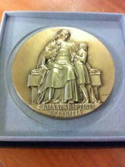 Médaille religieuse gravure