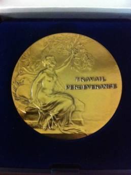 Médaille du travail gravée