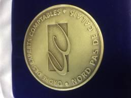 Médaille des Experts Comptables gravée