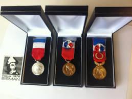 Médailles du travail avec écrin