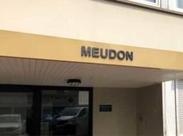 Nom de résidence en lettres découpées pour les copro et syndic - Signalétique de résidence Lille Tourcoing Rennes