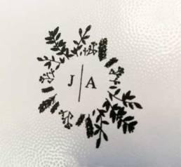 Tampon floral pour les mariages