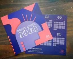 Cartes de vœux d'entreprise avec calendriers