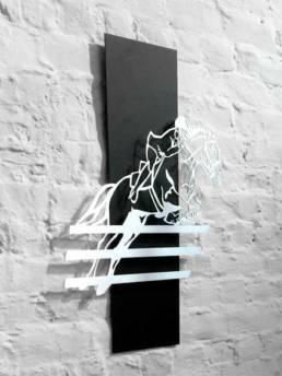 Création en inox découpé pour la décoration équestre