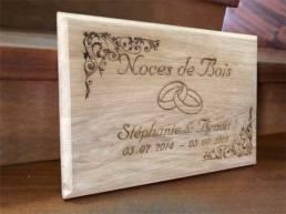 Gravure sur bois pour les Noces de Bois