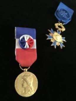 Médailles ONM et Médaille du travail
