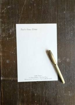 Papier à en-tête pour la correspondance en demi-A4