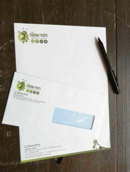 Tête de lettre et enveloppes pour les entreprises
