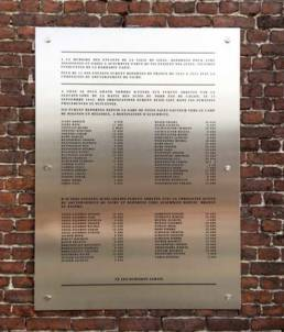 Plaque commémorative en inox