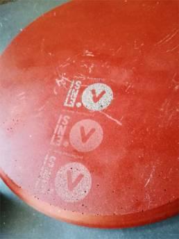 Test de gravure avec Etsini - Gravure sur le recyclage de la brique