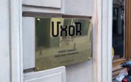 Plaque en laiton pour avocats avec logo