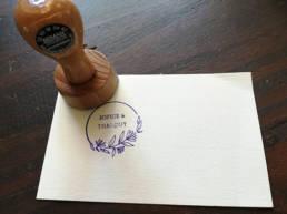 Tampon personnalisable pour les mariages