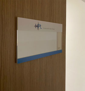 Plaque de porte modulable